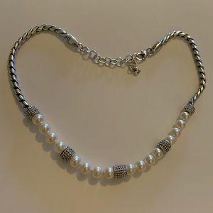 Brighton pearl and rhinestone necklace